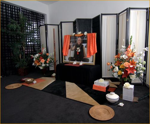 Murti and altar set up in Home Dance