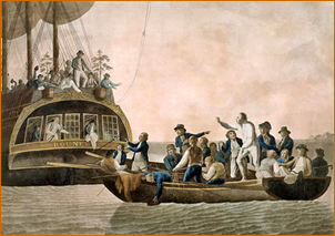 Captain Bligh and his men