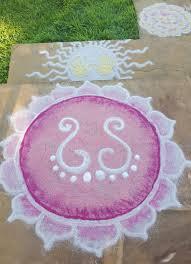 a sand rangoli made for Da Purnima